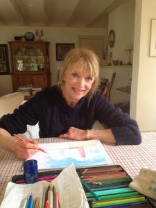 Annemarie aan tafel