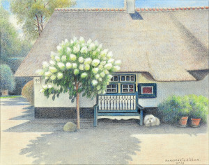 Ons huisje met Doortje, 2013, Kleurpotlood