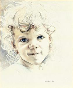 Aske, 1991, kleurpotlood