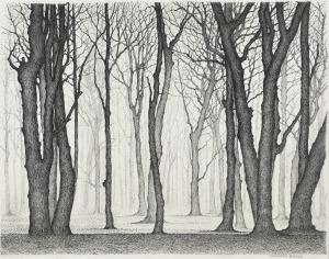 Bomen, 1982, pentekening