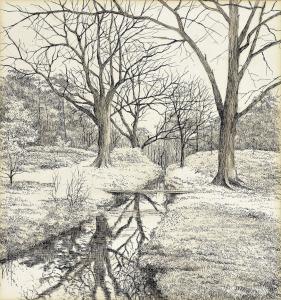 Bos van Blaauw, Hilversum, 1978, pentekening