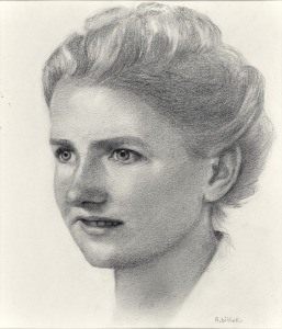Catharina Manschot, 1969, potlood