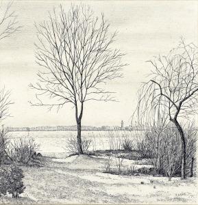 De levensboom van Harry Bronk, Horndijk Loosdrecht, 1977, pentekening
