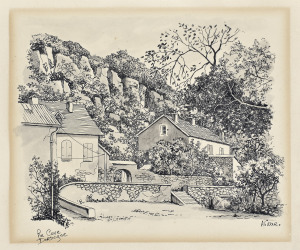 Grotte de Rouffignac, Dordogne, 1972, pentekening
