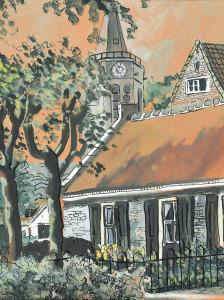Johanneskerk, Laren, 1968, aquarel