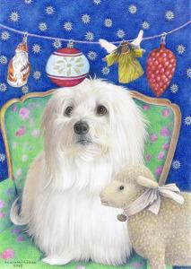 Kerstkaart (vrij naar Andrea Letterie) voor Leo, 2013, kleurpotlood