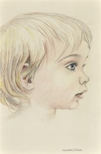 Kinderkopje, 1970, kleurpotlood