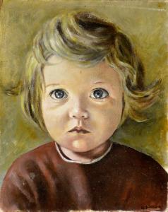 Kinderportretje, 1973, olieverf