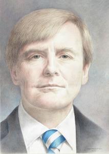 Koning Willem-Alexander, 2013, kleurpotlood